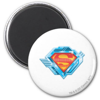 Superman S-Shield | Red and Blue Metal Logo 2 Inch Round Magnet