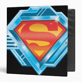 Superman S-Shield | Red and Blue Metal Logo Binder