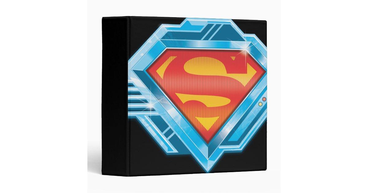 superman sshield red and blue metal logo binder zazzle