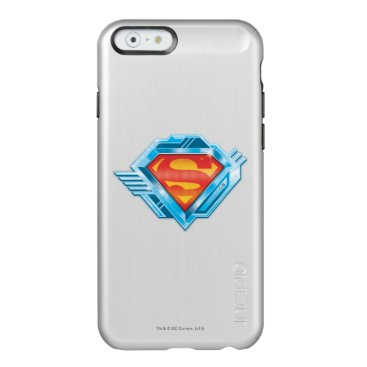 Superman S-Shield   Red and Blue Metal Logo Incipio Feather Shine iPhone 6 Case