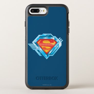 Superman S-Shield | Red and Blue Metal Logo OtterBox Symmetry iPhone 8 Plus/7 Plus Case