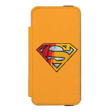 Superman S-Shield | Red and Orange Logo Wallet Case For iPhone SE/5/5s