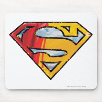 Superman S-Shield | Red and Orange Logo Mouse Pad