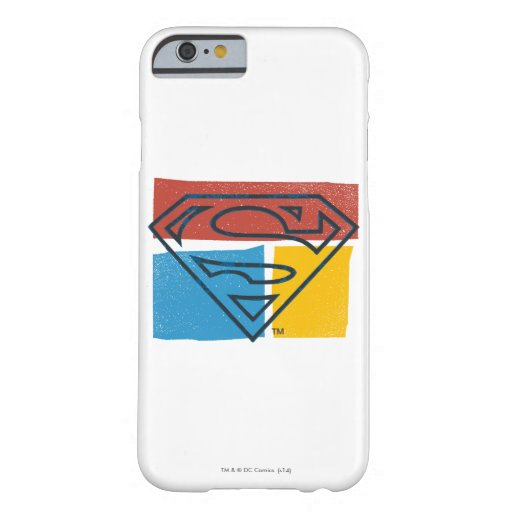 Superman S-Shield | Red Blue Yellow Block Logo Barely There iPhone 6 Case