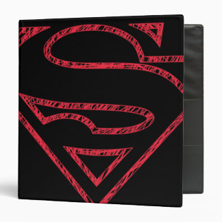 Superman S-Shield | Red Outline Logo 3 Ring Binder