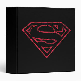Superman S-Shield | Red Outline Logo Binder