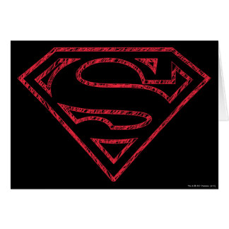 Superman S-Shield | Red Outline Logo Card