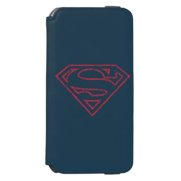 Superman S-Shield   Red Outline Logo iPhone 6/6s Wallet Case