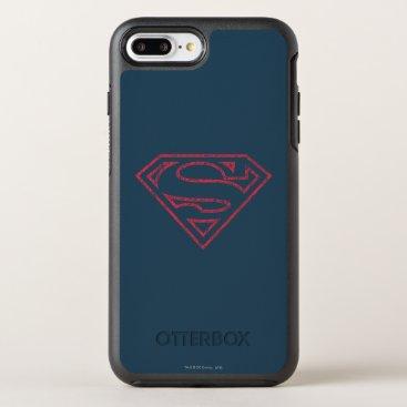 Superman S-Shield | Red Outline Logo OtterBox Symmetry iPhone 8 Plus/7 Plus Case