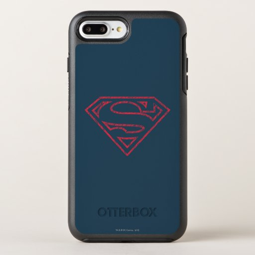 Superman S-Shield | Red Outline Logo OtterBox Symmetry iPhone 8 Plus/7 Plus Case