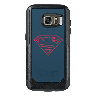 Superman S-Shield   Red Outline Logo OtterBox Samsung Galaxy S7 Case