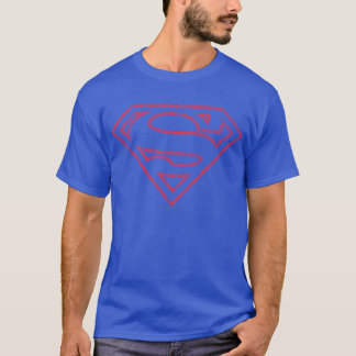 Superman S-Shield | Red Outline Logo T-Shirt