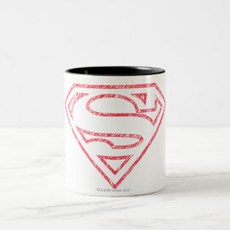 Superman S-Shield | Red Outline Logo Two-Tone Coffee Mug