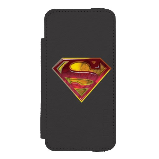 Superman S-Shield | Reflection Logo iPhone SE/5/5s Wallet Case