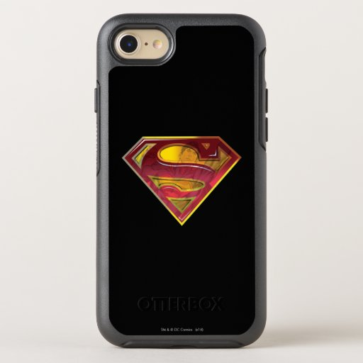 Superman S-Shield | Reflection Logo OtterBox Symmetry iPhone SE/8/7 Case