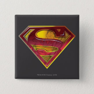 Superman S-Shield | Reflection Logo Pinback Button
