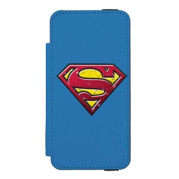 Superman S-Shield | Scratches Logo iPhone SE/5/5s Wallet Case