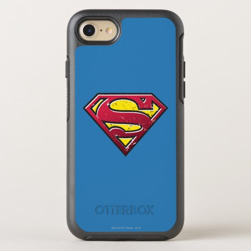 Superman S-Shield   Scratches Logo OtterBox Symmetry iPhone SE/8/7 Case