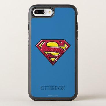 Superman S-Shield | Scratches Logo OtterBox Symmetry iPhone 8 Plus/7 Plus Case