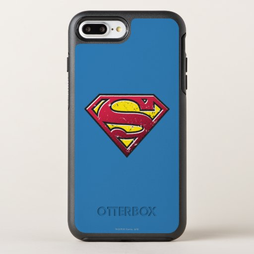 Superman S-Shield | Scratches Logo OtterBox Symmetry iPhone 8 Plus/7 Plus Case