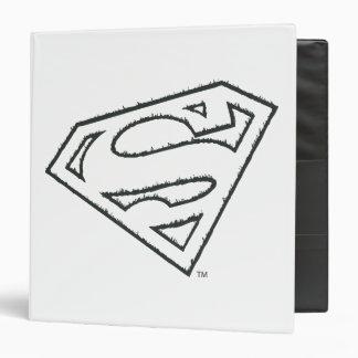 Superman S-Shield | Sideways Grunge Logo 3 Ring Binder