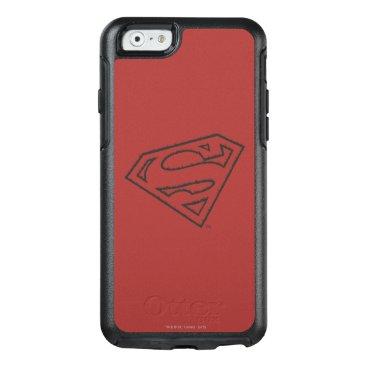 Superman S-Shield   Sideways Grunge Logo OtterBox iPhone 6/6s Case