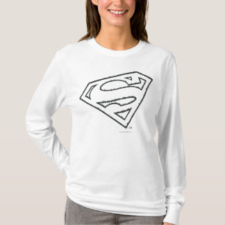 Superman S-Shield   Sideways Grunge Logo T-Shirt