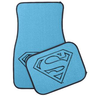 Superman S-Shield | Simple Black Outline Logo Car Mat