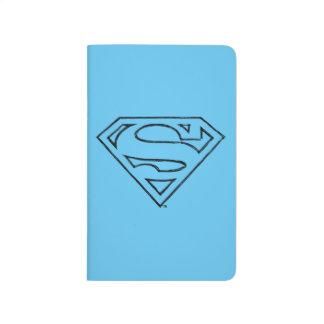 Superman S-Shield | Simple Black Outline Logo Journal