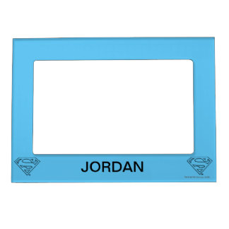 Superman S-Shield | Simple Black Outline Logo Magnetic Picture Frame