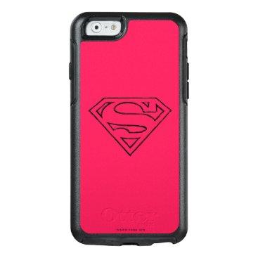 Superman S-Shield | Simple Black Outline Logo OtterBox iPhone 6/6s Case