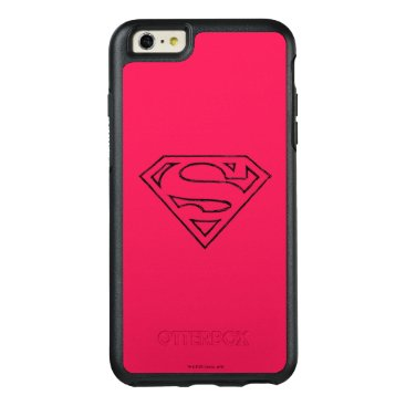 Superman S-Shield | Simple Black Outline Logo OtterBox iPhone 6/6s Plus Case