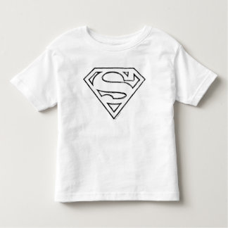 Superman S-Shield | Simple Black Outline Logo Toddler T-shirt