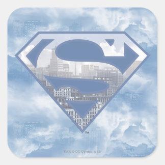 Superman S-Shield Square Sticker