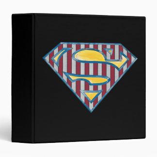 Superman S-Shield | Striped Logo 3 Ring Binder