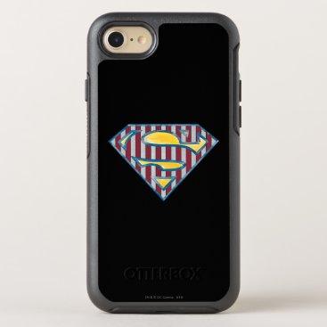 Superman S-Shield | Striped Logo OtterBox Symmetry iPhone 8/7 Case