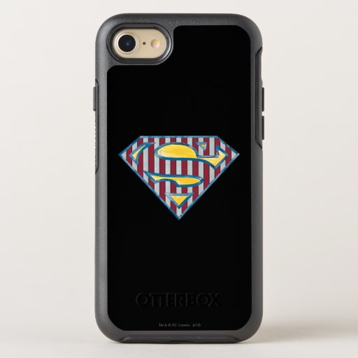 Superman S-Shield | Striped Logo OtterBox Symmetry iPhone SE/8/7 Case