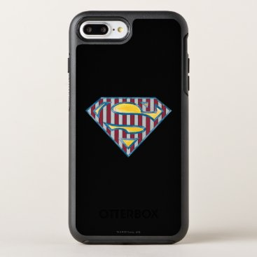 Superman S-Shield | Striped Logo OtterBox Symmetry iPhone 8 Plus/7 Plus Case