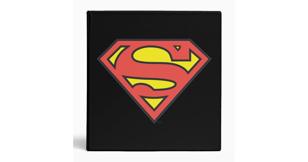 Superman s shield superman logo 3 ring binder zazzle for Bureau 39 superman