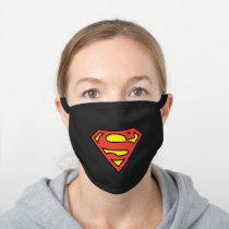 Superman S-Shield | Superman Logo Black Cotton Face Mask