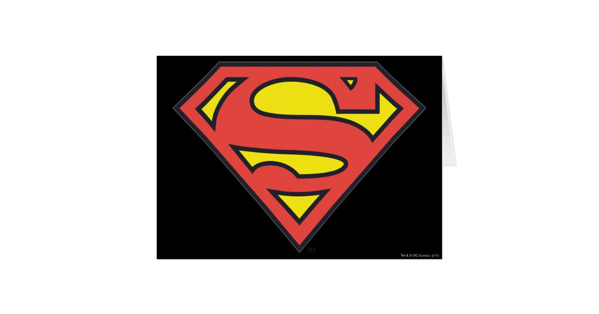Superman S-Shield | Superman Logo Card | Zazzle