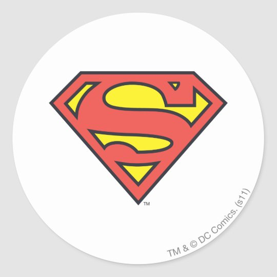 Superman s shield superman logo classic round sticker