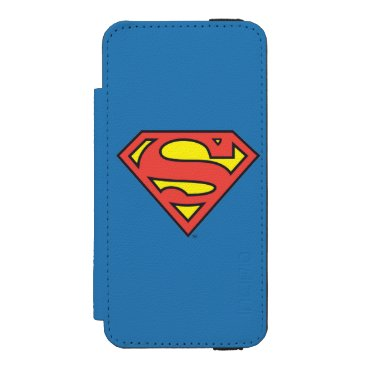 Superman S-Shield | Superman Logo Wallet Case For iPhone SE/5/5s