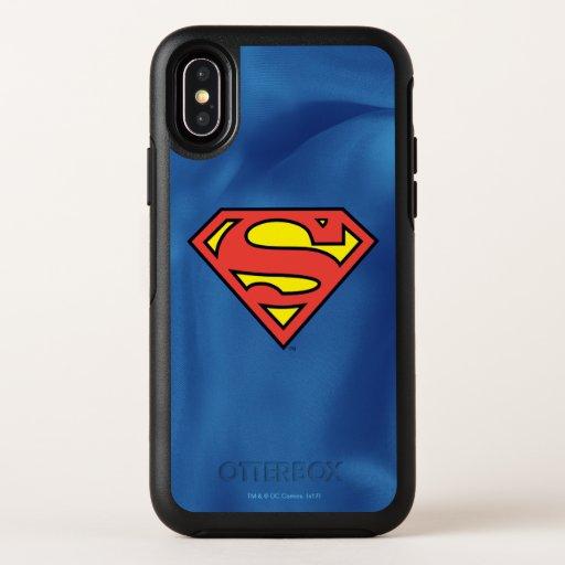 Superman S-Shield   Superman Logo OtterBox Symmetry iPhone X Case