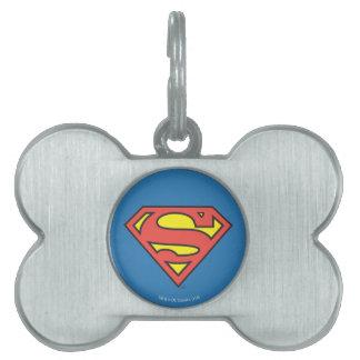 Superman S-Shield   Superman Logo Pet ID Tag