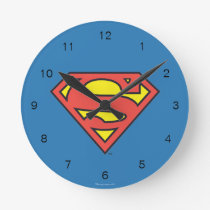 Superman S-Shield | Superman Logo Round Clock