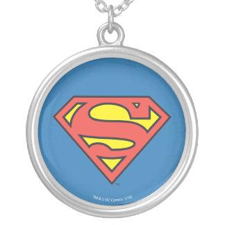 Superman S-Shield | Superman Logo Round Pendant Necklace