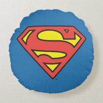 Superman S-Shield | Superman Logo Round Pillow