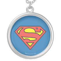 Superman S-Shield | Superman Logo Silver Plated Necklace