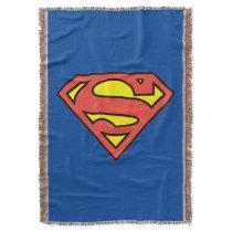 Superman S-Shield | Superman Logo Throw Blanket